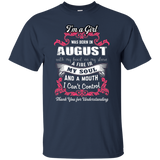 August Girl Shirt I Was Born With My Heart On My Sleeve