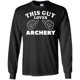 Archery Shirts Archery Gifts This Guy Loves Archery Awesome Tee For Men