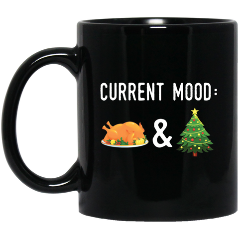 Mens Christmas & Thanksgiving Mug Current Mood