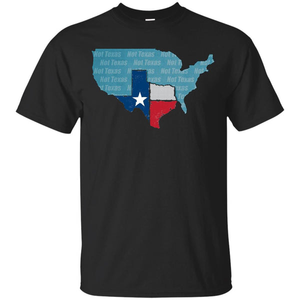 Texas Not Texas Vintage Distressed State Of Texas Flag Shirt