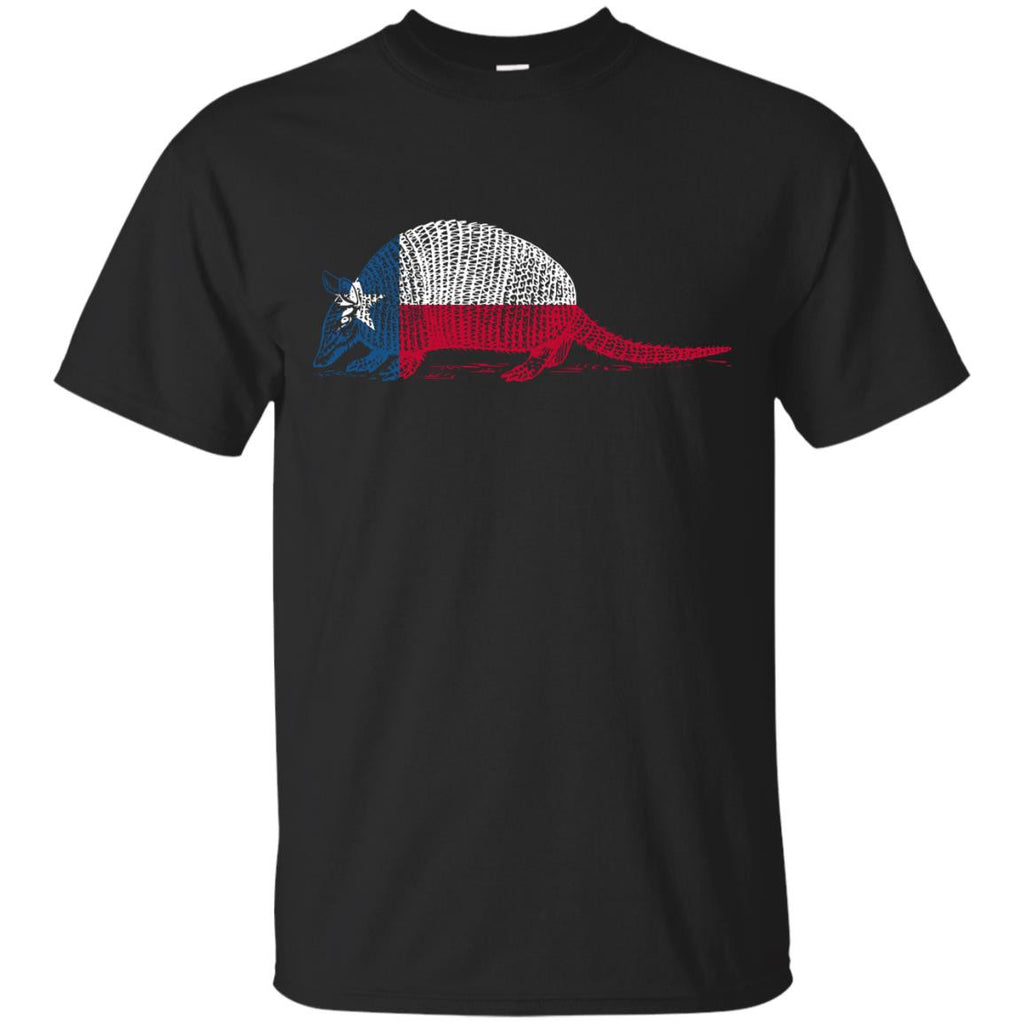 Armadillo Texas Flag T Shirt