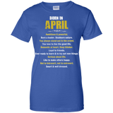 April Girl T-Shirt Born In April Tshirt