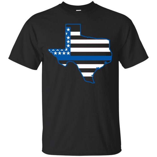 Texas State Police - Thin Blue Line T Shirt