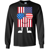 American Flag with Sunglasses - Funny 4th of July T-Shirt