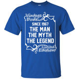 1967 Man Born - 1967 the man the myth the legend T-Shirt