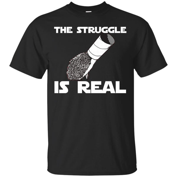 The Struggle Is Real Funny Hedgehog Graphic T-Shirt