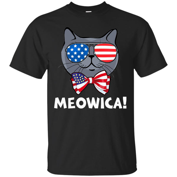 Meowica Shirt  Funny Cat Shirts  Fourth Of July Shirt 4th