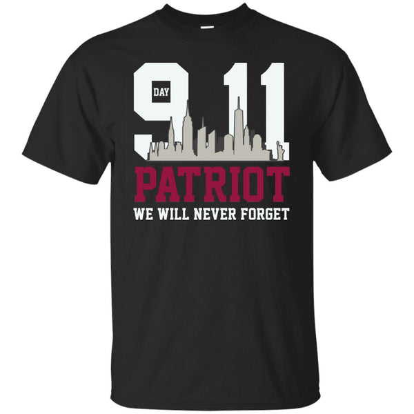 Patriot Day 911 Memorial We Will Never Forget Tshirt