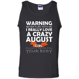 August Girl T-Shirt August Born Tshirt Crazy Girl Shirt