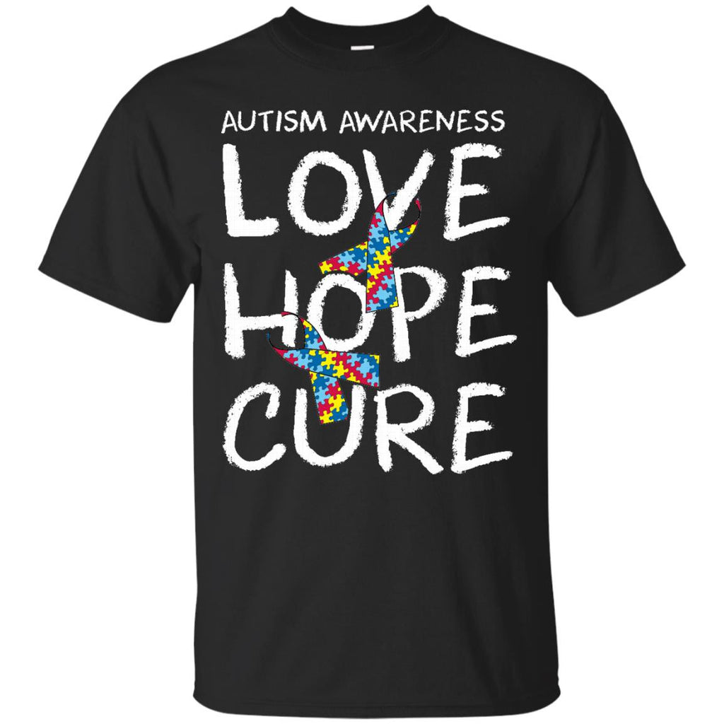 Autism autistic teach love hope inspire mom t shirt