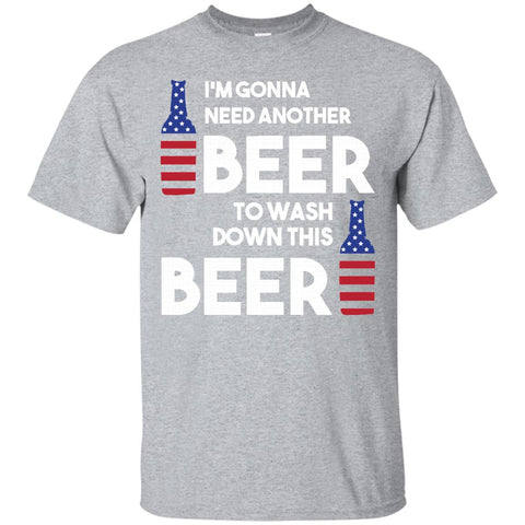 Thanksgiving T Shirt Drinking USA Flag 4th Of July