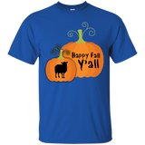 2018 Fall Pumpkin Happy Fall Yall Shirts For Women