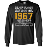 1967 Original Mens 50th Birthday Gift T Shirt