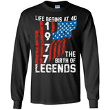 40th Birthday Shirt Born in July 1977 Life Begins At 40 Gift