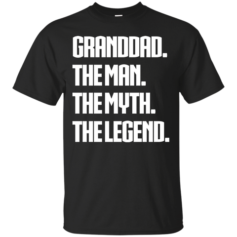 Mens Granddad The Man The Myth The Legend Shirt Granddad T Shirts Funny