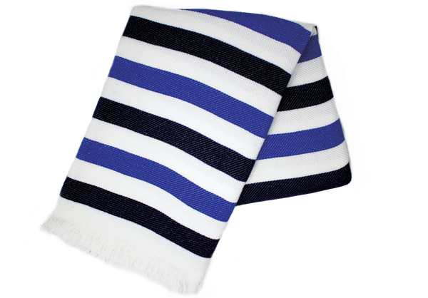 Denim and Navy Stripe Turkish Towel