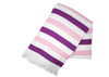 Ballet Pink and Purple Stripe Turkish Towel