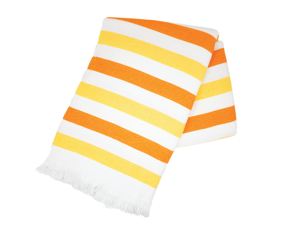 Orange and Yellow Stripe Turkish Towel