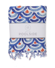 Shibori Waves Turkish Towel