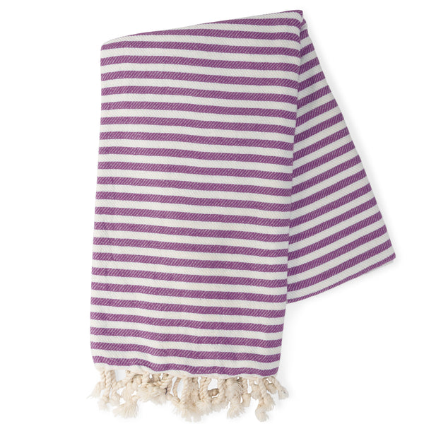 Purple & White Turkish Towel