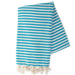 Turquoise & White Turkish Towel