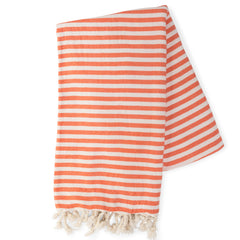 Orange & White Turkish Towel