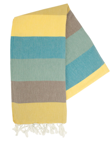 Autumn Stripes Turkish Towel