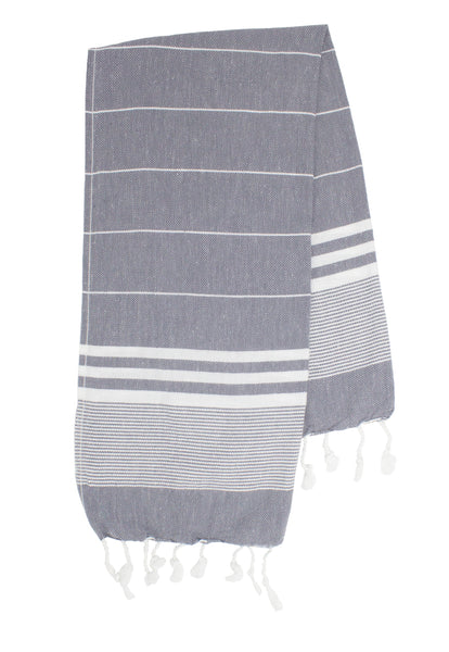 Charcoal Small Turkish Towel