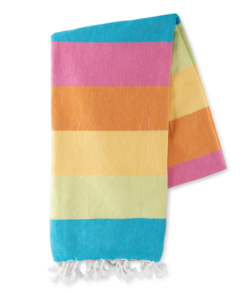 Sunset Stripes Turkish Towel