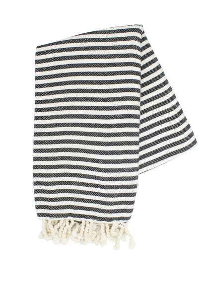 Black and White Turkish Towel
