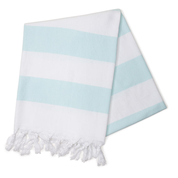 Mint Cabana Stripes Turkish Towel