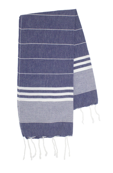 Navy Small Turkish Towel