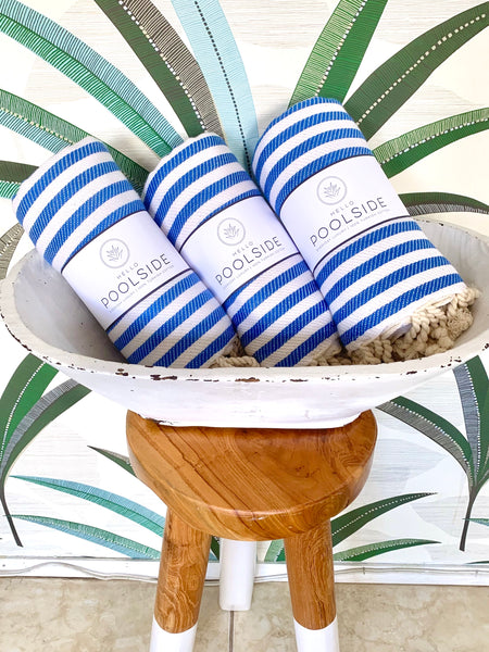 Blue & White Turkish Towel