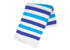 Turquoise and Royal Blue Stripe Turkish Towel
