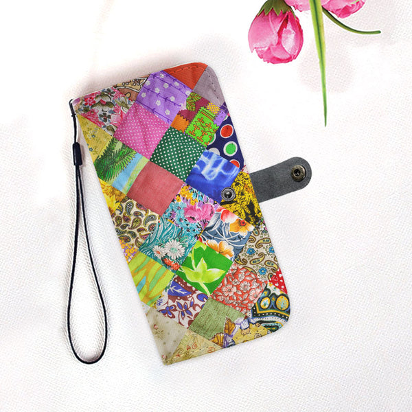 Quilting-Wallet-Phone-Case-With-Card-Holder