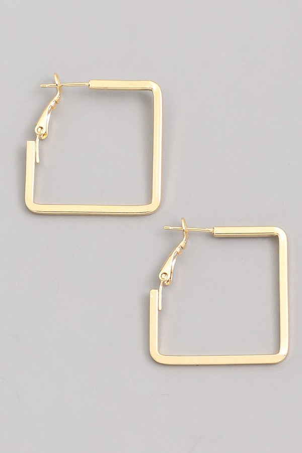 Don't Be Square Hoops (gold)