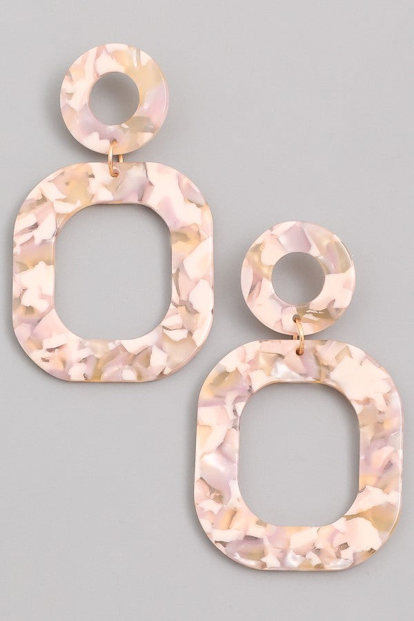 Marble Me Earrings (Beige)