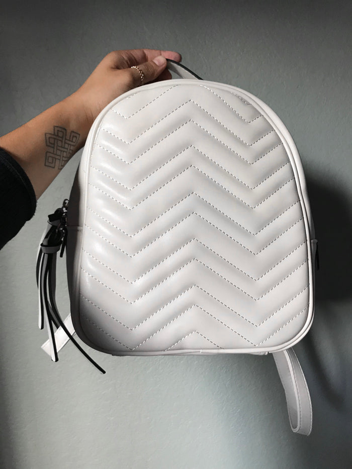 Desi Quilted Chevron Backpack