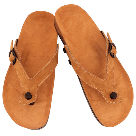Brown Suede Flipflop (Leather)