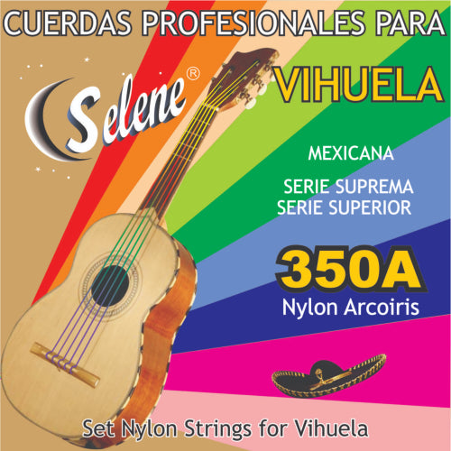 Rainbow Colored Vihuela Strings by Selene