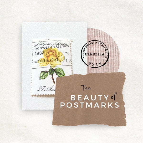 the beauty of postmarks and postage cancellation on used postage stamps