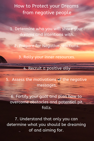 top tips for surviving negative reactions to your dreams and goals