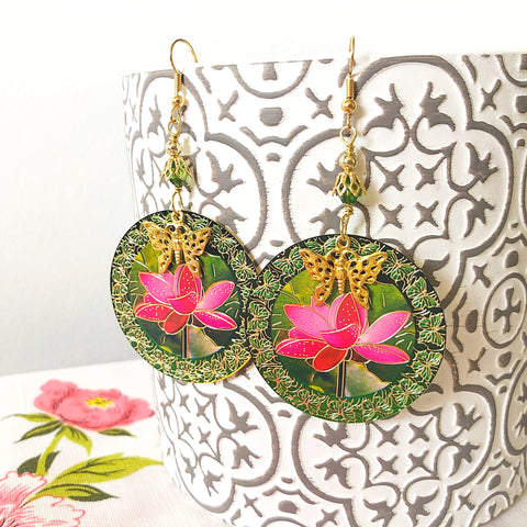 this pair of earrings is an example of a design that many people would consider medium or even large or oversized but is very lightweight due to the materials used