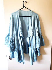 the original Suzanne Betro shirt viewed from the front, it has a lovely drape