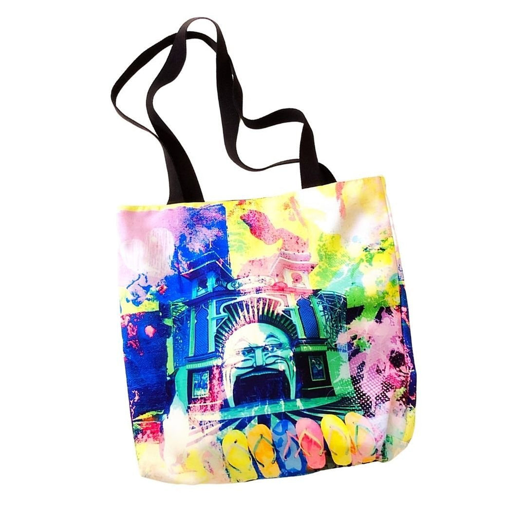 beach bag, Luna Park, St Kilda - StarzyiaTote Bag