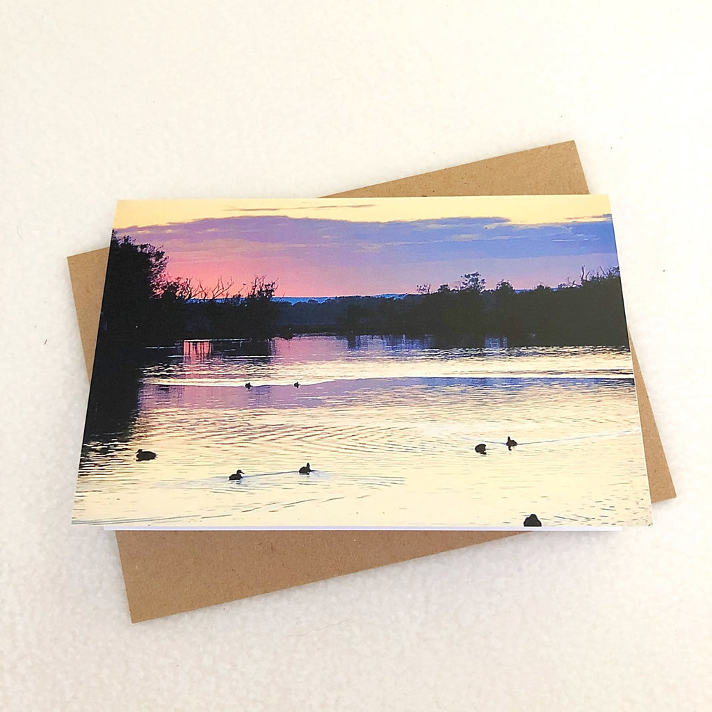 greeting card, calming river scenery - StarzyiaGreeting Card