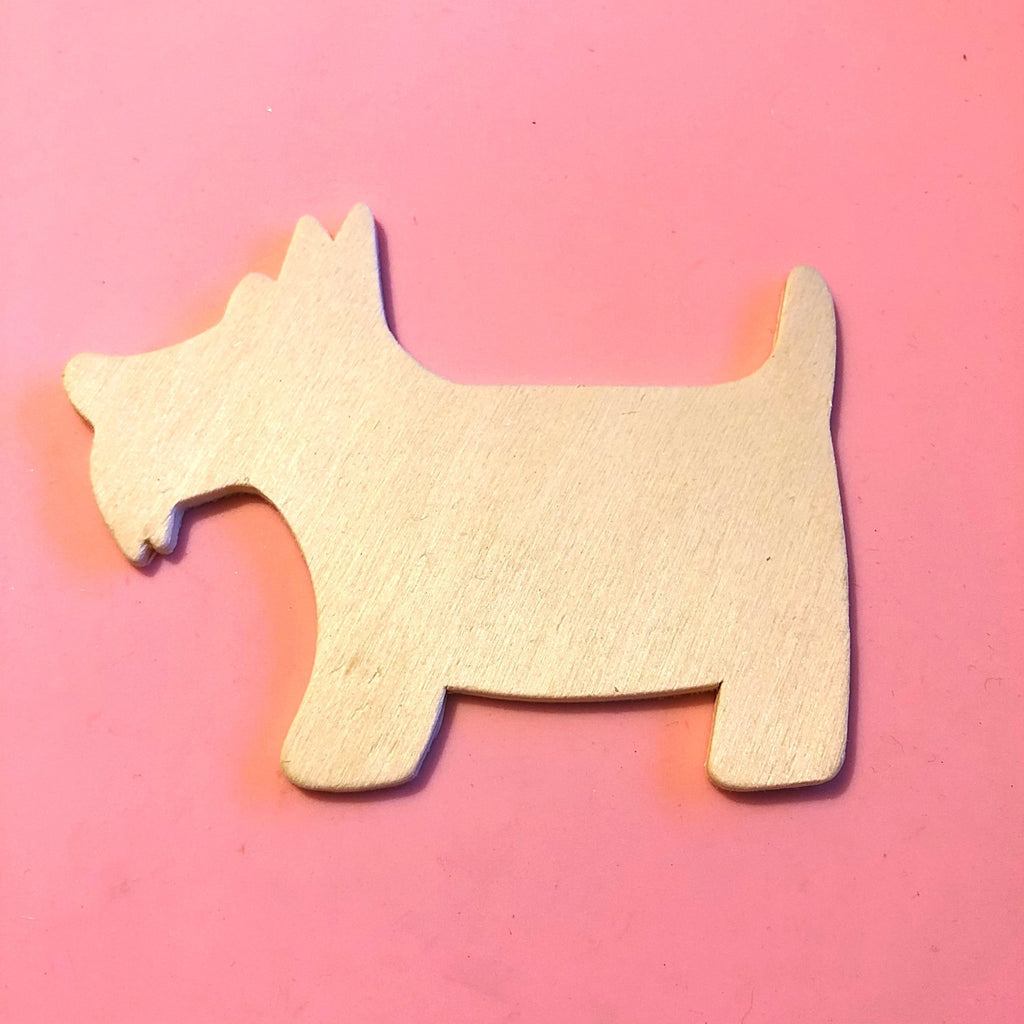 wood dog cut out, Scottish Terrier shape, craft supply - StarzyiaWood Shape