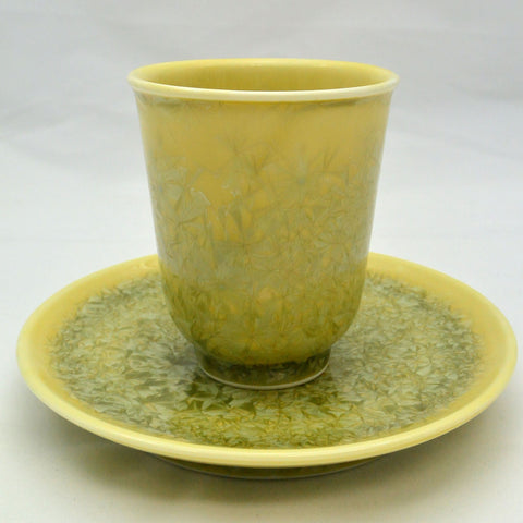 Flower Crystallization Cup&Saucer (M) Yellow