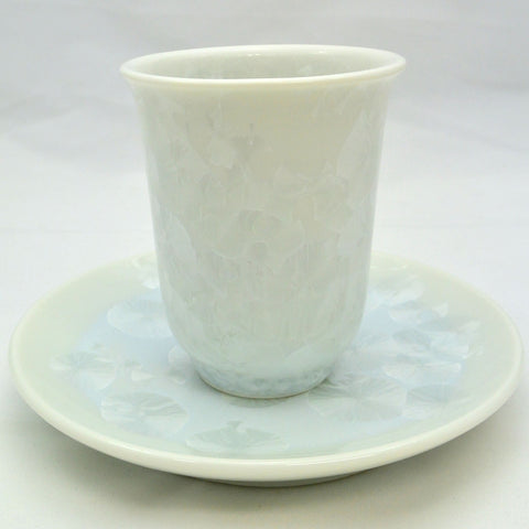 Flower Crystallization Cup&Saucer (M) White