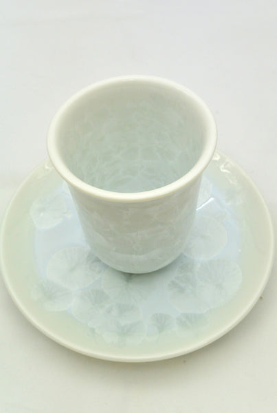 Flower Crystallization Cup White